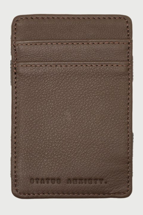 Status Anxiety Flip Wallet Chocolate