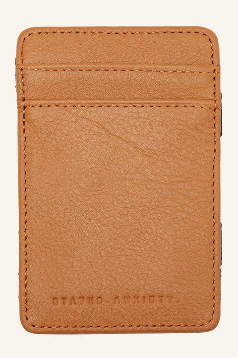 STATUS ANXIETY Flip Wallet Tan