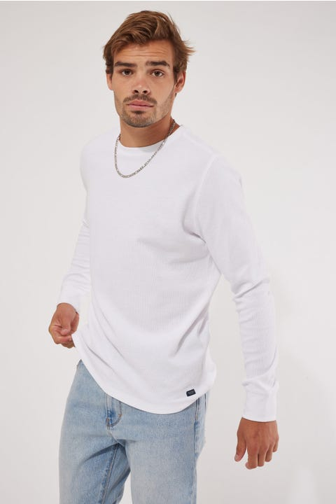 Academy Brand Workers Crew White