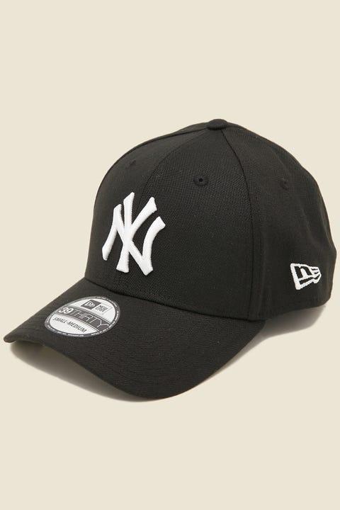 NEW ERA 39Thirty Stretch NY Yankees Black/White