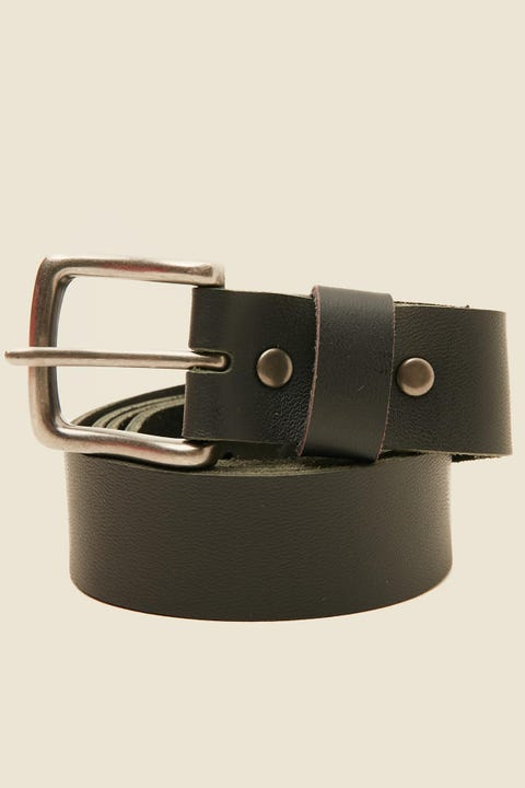 COMMON NEED Basic Slim Belt Black/Antique Steel