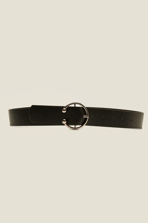 TOKEN Pierced Belt Black