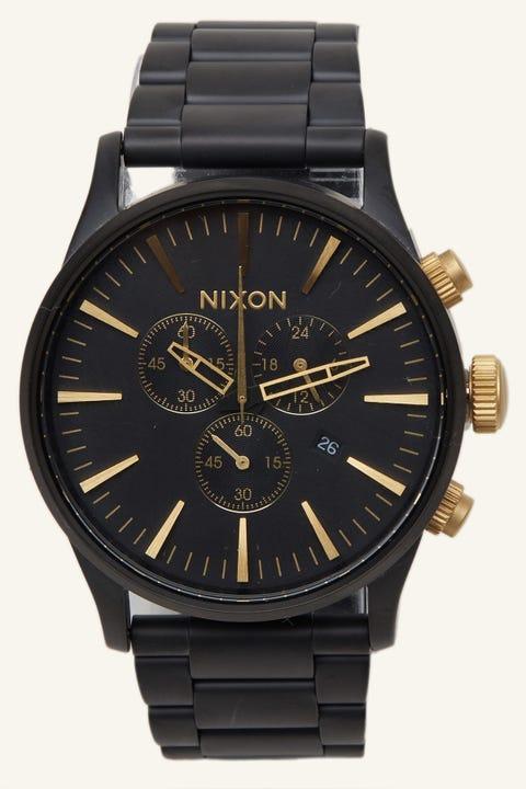NIXON Sentry Chrono SS Matte Black/Gold