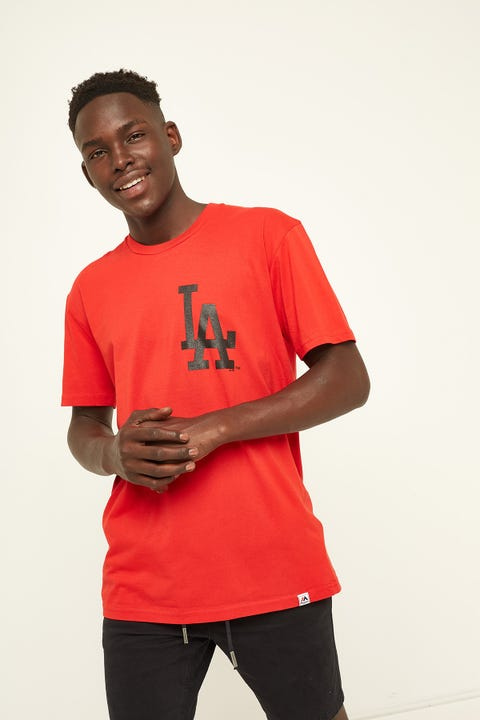Majestic Athletic Dodgers Tee Red Black