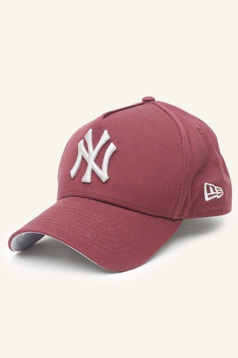New Era 9Forty A-Frame NY Yankees Snapback Maroon/Grey