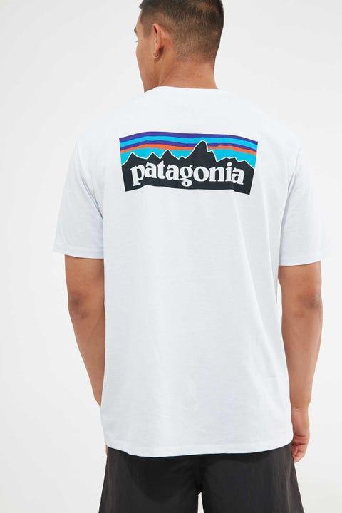 Patagonia M's P-6 Logo Tee White