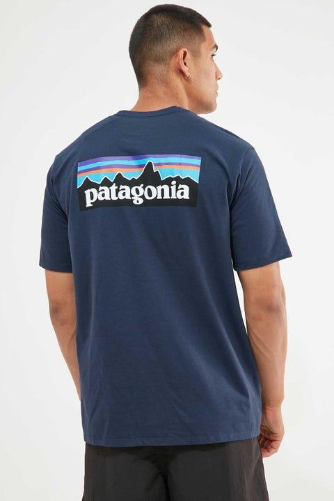 Patagonia M's P-6 Logo Tee Classic Navy