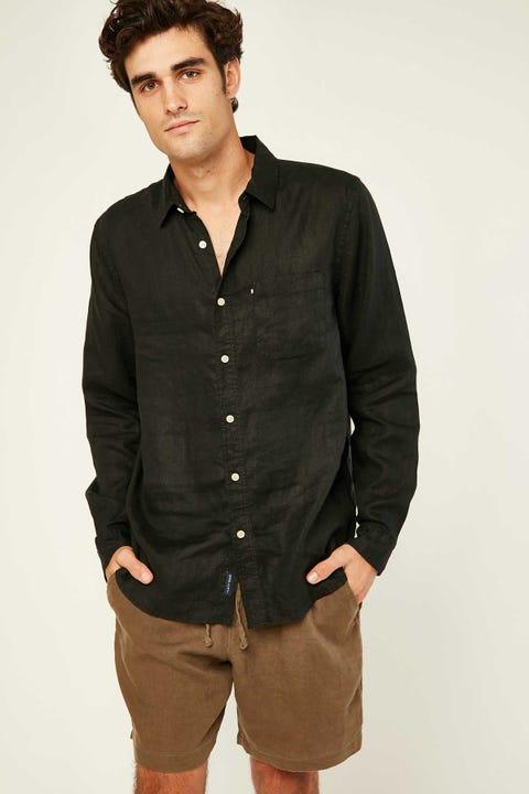 THE ACADEMY BRAND Hampton LS Shirt Black