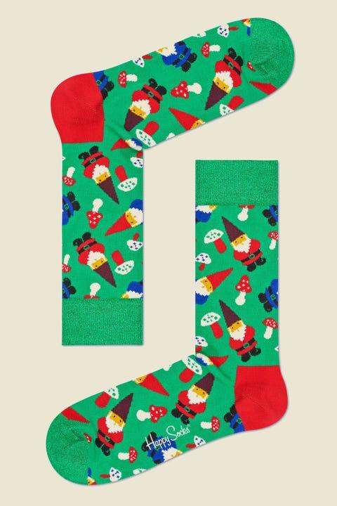 HAPPY SOCKS Holiday Gnome Sock Green