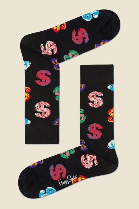 HAPPY SOCKS Andy Warhol Dollar Sock Black