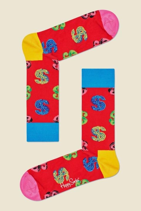 HAPPY SOCKS Andy Warhol Dollar Sock Red