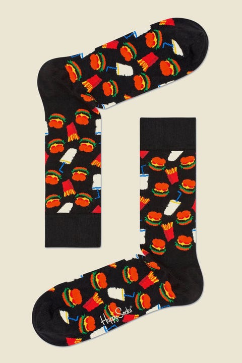 HAPPY SOCKS Hamburger Sock Black/Multi