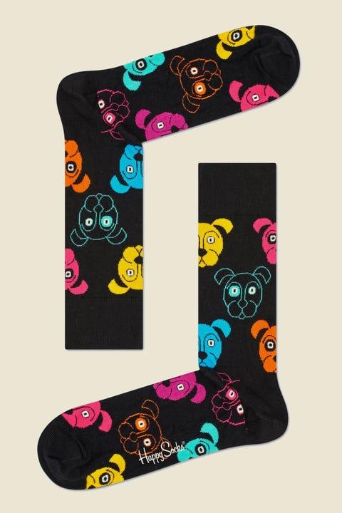 Happy Socks Dog Sock Black/Multi