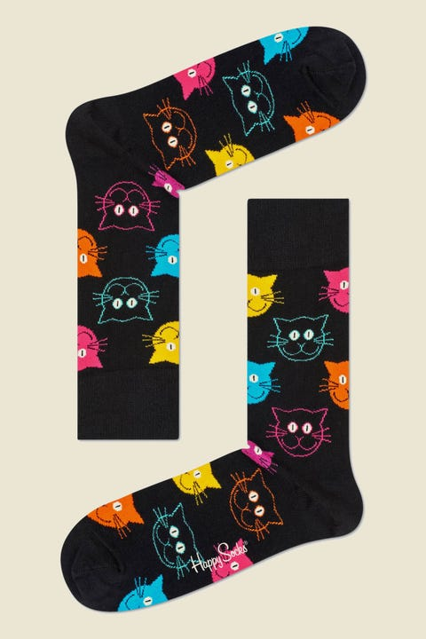 HAPPY SOCKS Cat Sock Black/Multi
