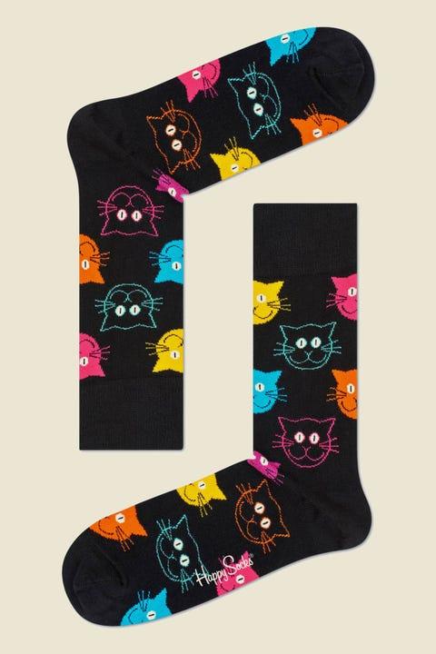 HAPPY SOCKS Cat Sock Black/Multi