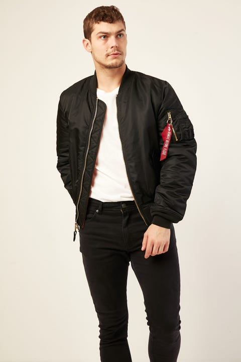 ALPHA INDUSTRIES MA-1 Slim Fit Bomber Black