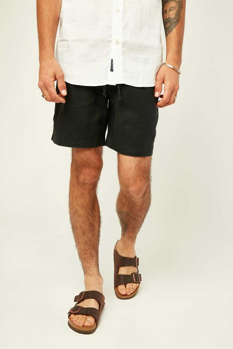 THE ACADEMY BRAND Riviera Linen Short Black