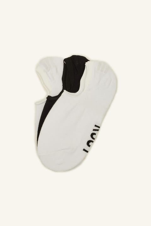 KISS CHACEY KCSY Invisible Sock 3 Pack Black/White