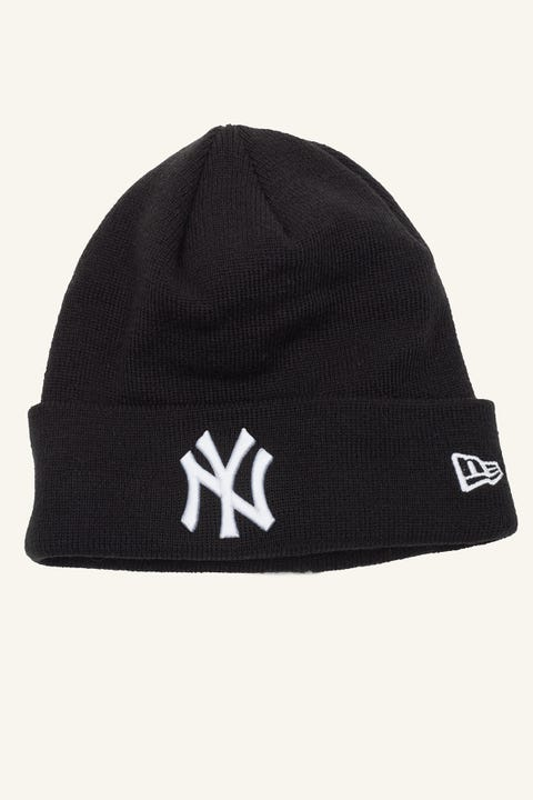 New Era 6Dart Knit NY Yankees Beanie Black/White