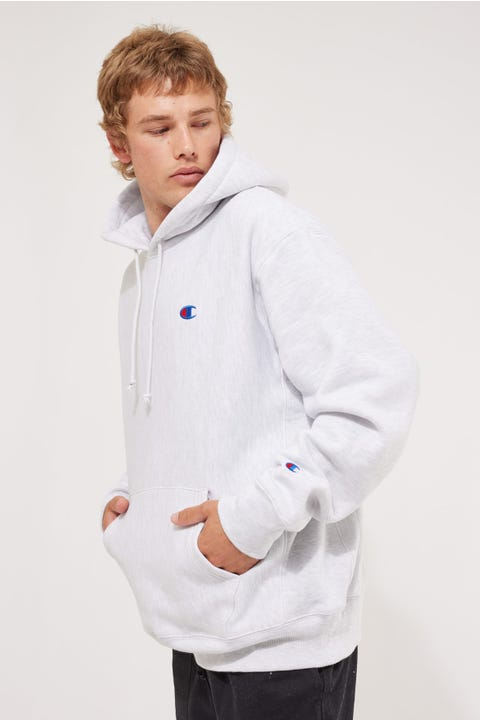 Champion Reverse Weave Hoodie Silver