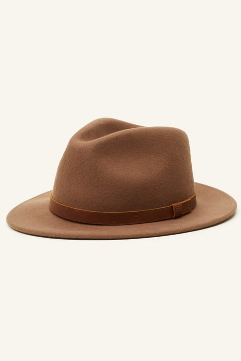 BRIXTON Messer II Fedora Dark Tan/Brown