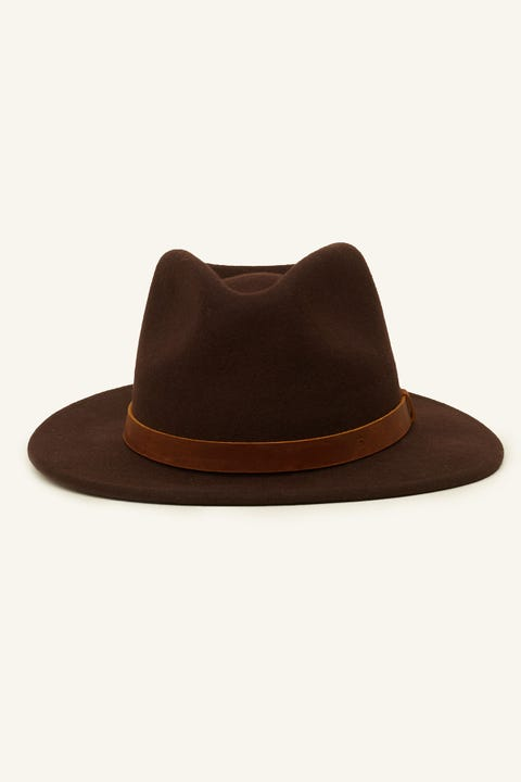 BRIXTON Messer Fedora Chestnut/Brown