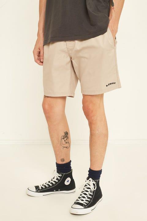 "BARNEY COOLS Amphibious 17"" Short Tan"