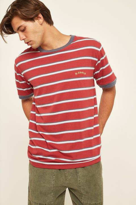 BARNEY COOLS B.Nostalgic Ringer Tee Red Stripe