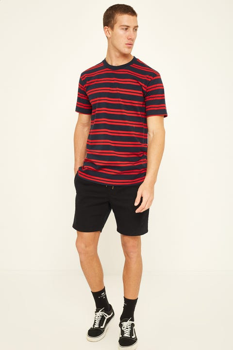 AS Colour Classic Stripe Tee Navy Red