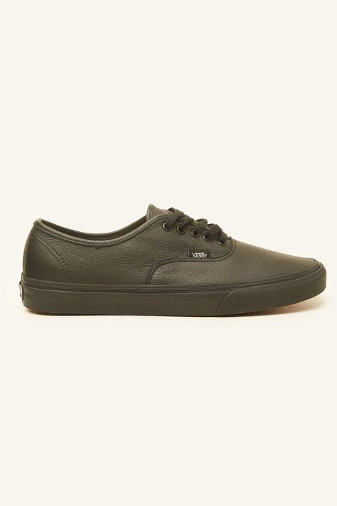 Vans Authentic (Leather) Black/Black