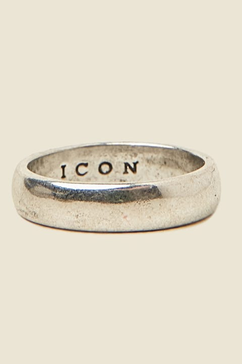ICON BRAND Band Ring Burnished Silver