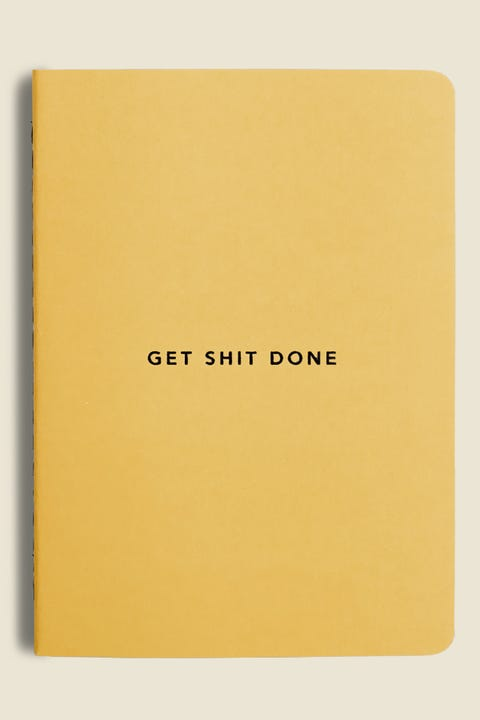 MIGOALS Get Shit Done Minimal Notebook Yellow/Black Foil