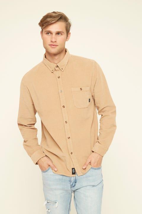 THRILLS Canyon Corduroy LS Shirt Overdyed Tan