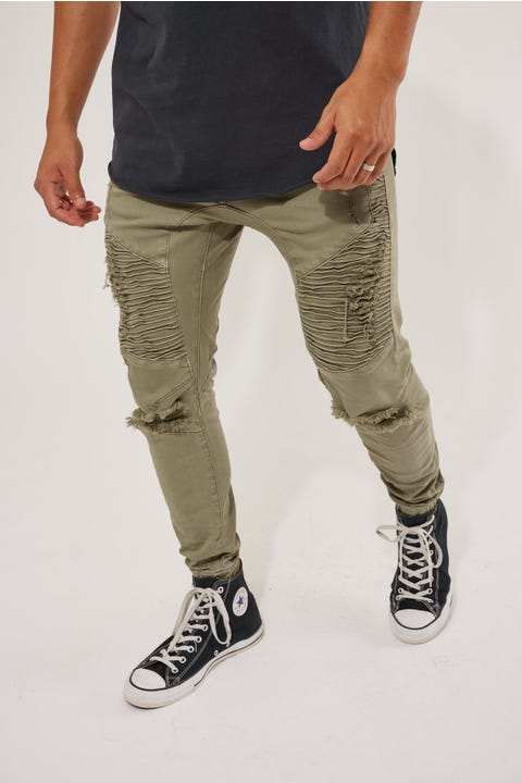 Kiss Chacey Zeppelin Denim Jogger Lichen Green