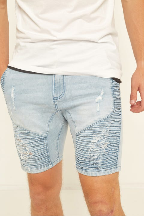 KISS CHACEY Zeppelin Denim Short Defiance Blue