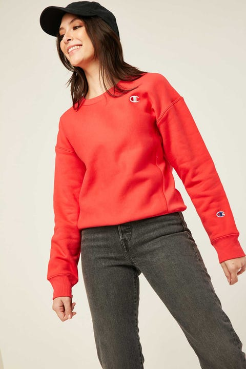 Champion Reverse Weave Crew Red Spark