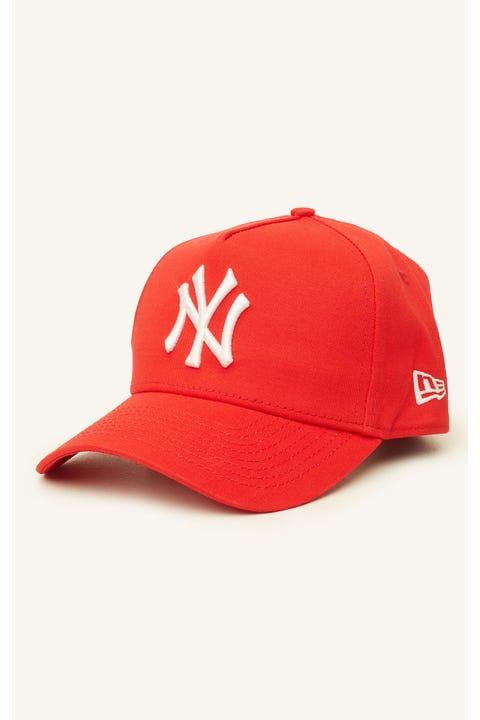 New Era 9Forty A-Frame NY Yankees Snapback Scarlet/White