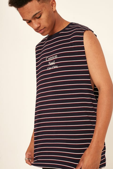 COMMON NEED Intersect Muscle Navy Stripe