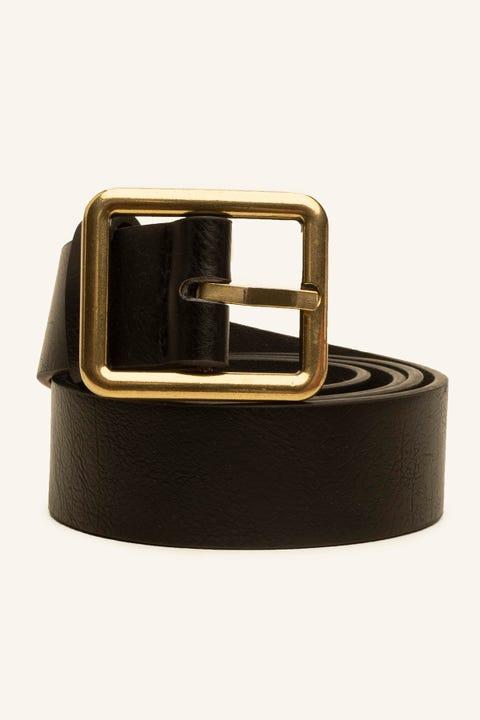 TOKEN Squared Belt Black/Gold