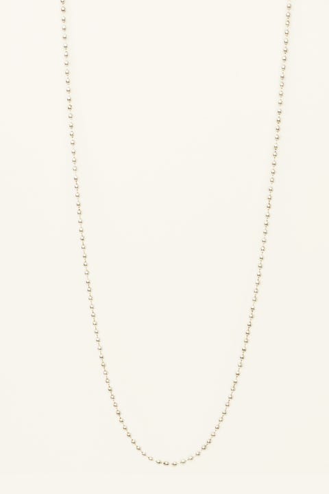 WILD FOR THE WEEKEND Ball Chain Necklace Antique Silver