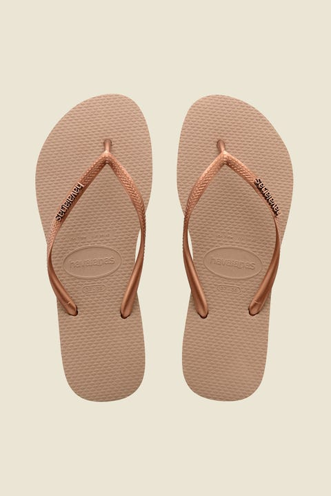 Havaianas Slim Metal Logo Rose/Dark Copper