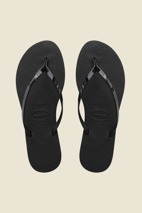 Havaianas You Metallic Thong Black