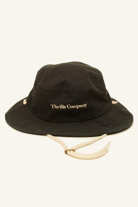 Thrills Service Wide Brim Bucket Hat Vintage Black