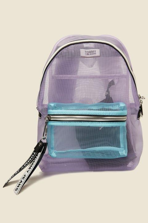TOMMY JEANS TJU Logo Tape Mini Backpack Pastel Lilac