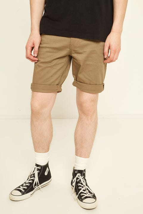ABRAND A Dropped Slim Short Sand