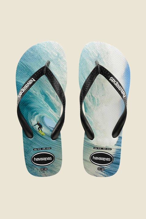 Havaianas Photoprint Thong Black Black Blue