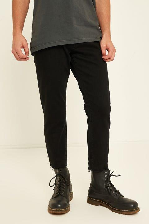 ABRAND A Cropped Slim Jean Asphalt Drive Black