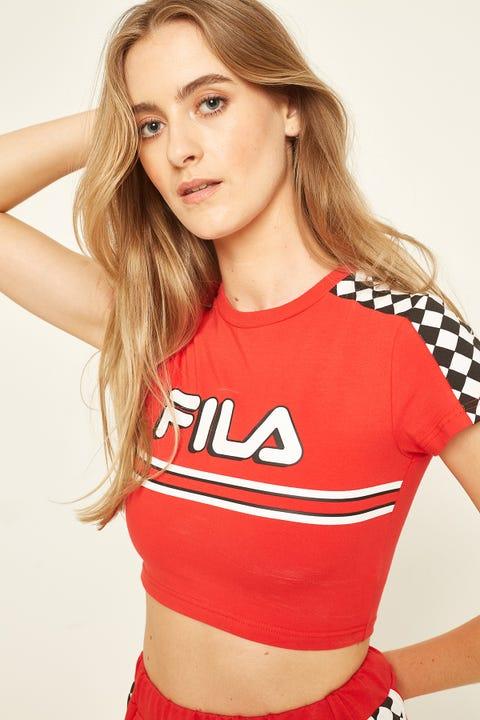 FILA Motocross Crop Tee Red