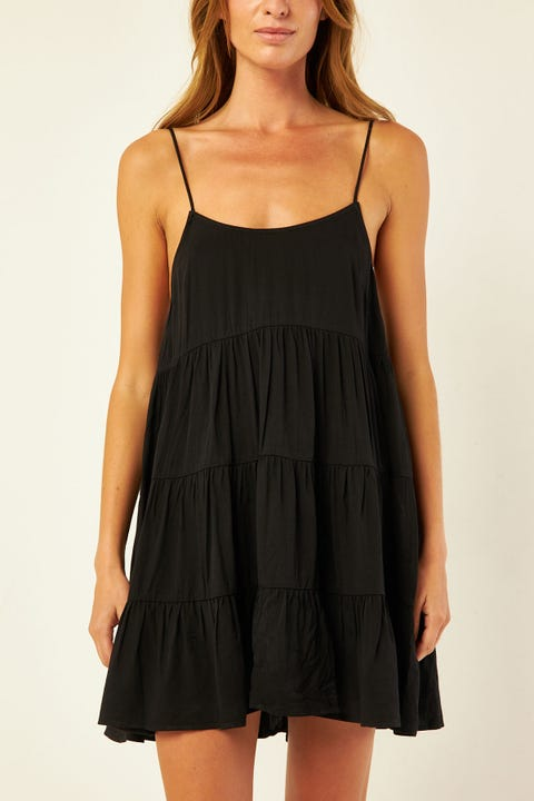 Luck & Trouble Swinging Dress Black