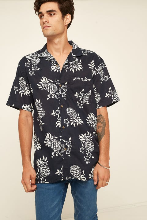 THE ACADEMY BRAND Sunset Shirt Navy